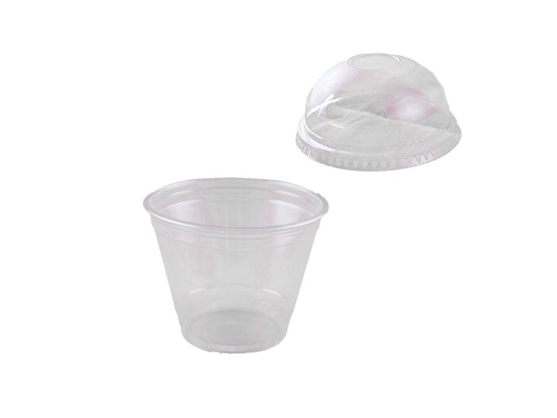 100 dessertbecher smoothie cups 9 oz 225 ml mit deckel. Black Bedroom Furniture Sets. Home Design Ideas