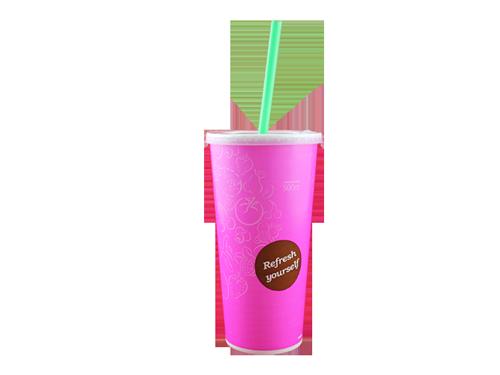 Pappbecher 0,5 pink