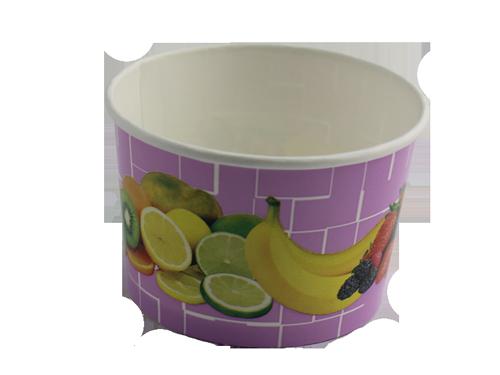 Eisbecher Früchte lila