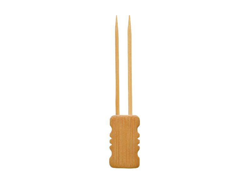 100 stücke Einweg Bambus Gabeln Obst Sticks Cocktail Picks Party Geschirr   /%F